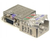 PROFIBUS Connector With PG port, 90° Cable Outlet, Diagnostic LEDs, FastConnect