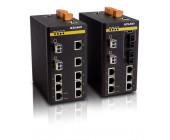 SICOM3000 Switch, 10 portový mažovatelný switch na DIN lištu, kombinace 6-8 ethernetových portů 10/100M, FOXON