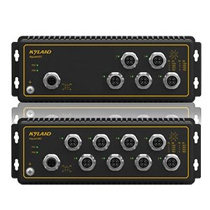 Aquam5G/8G, 5-8x M12 port průmyslový switch EN50155, IP65, FOXON
