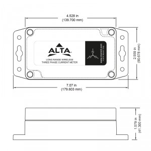 ALTA Industrial Wireless Three Phase Current Meter – 150 Amp