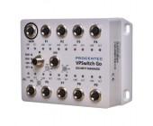 VPSwitch Go Security 10xM100 M12 průmyslový manažovatelný switch EN50155, IP54, FOXON